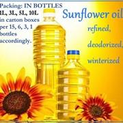 Масло подсолнечное рафинированное вымороженное дезодорированное марки «П» только Экспорт.(Sunflower oil refined deodorized winterized) фото