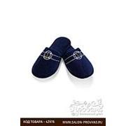 Тапочки мужские Soft Cotton MARINE тёмно-синий 40-42 фото