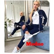 Женский спортивный костюм с отделкой, в расцветках. МД-11-0818 фото