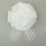 Бант-шар №10 Полоски , цвет белый фото