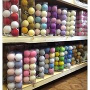 Гирлянды из хлопковых шариков фото