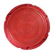 Люк полимерно-песчаный легкий (нагрузка 15 кН), красный фото