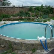 Бассейн BADEN круглый глубина 1,2 м, диаметр 2,5 м фото
