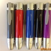 Зажигалка Пьезо ручка с фонариком ККК фото