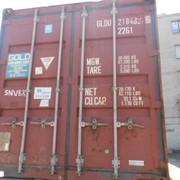 Морской контейнер 20 футов (тонн) №GLDU 2184926. Доставка фото