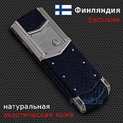 Телефон Vertu Signature S Design Stainless Steel Blue Python Exclusive фото