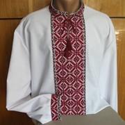 Вышиванка мужская с геометрическим орнаментом фото