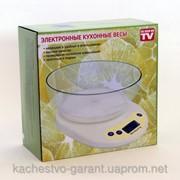 Весы кухонные электронные с чашей до 5 кг весы до 5 кг фото