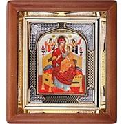 Икона аналойная Всецарица Божья матерь, риза, 17х19 фото