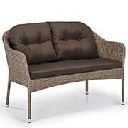 Плетеный диван S54B-W56 Light brown фото