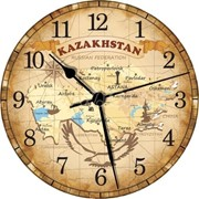 """Часы """"Карта Казахстана"""" 30 см. фото"""