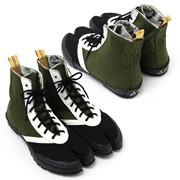 Японская обувь, ниндзя шуз (таби) в виде кед модель Мидера фото