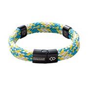 Colantotte Loop AMU bracelet Магнитный браслет, цвет Аква / Желтый, размер L фото