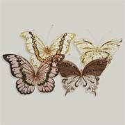 Декор Бабочка из органзы 20х14см в ассортименте фото