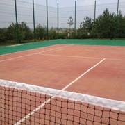 Укладка покрытия ГЕОДОР для теннисного корта. Укладка покриття ГЕОДОР для тенісного корту. фото
