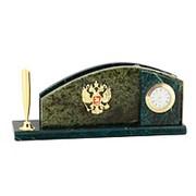 Сувенирный Сувенирный настольный набор набор с гербом России змеевик фото