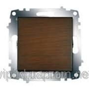 Выключатель с подсветкой ZENA модуль темный орех 609-012900-201 фото