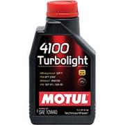 Моторное масло MOTUL 4100 Turbolight 10W-40, полусинтетическое, 1л 108644 фото