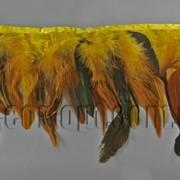 Перо-юбка желтая с черными хвостиками 15-20см/48-50см 570823 фото