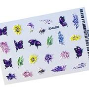 Anna Tkacheva, 3D-стикер CL №033 «Бабочки. Цветы» фото