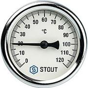 """STOUT Термометр биметаллический с погружной гильзой. Корпус Dn 63 мм, гильза 75 мм 1/2"""" фото"""