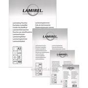 Пленка для ламинирования Lamirel 54х86, 125мкм фото
