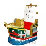 Детский аттракцион качалка Пиратский корабль фото