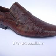 Кожаные мужские туфли, ручной работы. Сделано в Украине. фото