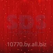 """Гирлянда """"Светодиодный Дождь"""" 2х1,5м, постоянное свечение, прозрачный провод, 220В, диоды КРАСНЫЕ фото"""