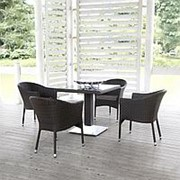 Комплект плетеной мебели T606SWT/Y350W-W2390 Brown 4Pcs фото