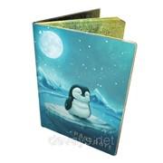 Прикольный чехол для паспорта Пингвин фото