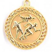 Медаль рельефная легкая атлетика - золото фото