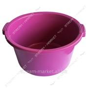 Таз полиэтиленовый не пищевой 24л цветной круглый №438450 фото