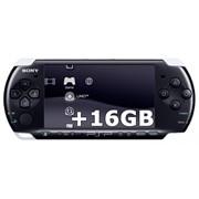 Приставка Sony PSP Slim Piano Black 3008 6.20 TN-B/6.35 PRO + Карта Памяти 16Gb + 90 игр + Пленка + Чехол + USB кабель фото