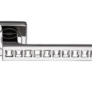 Межкомнатная дверная ручка хром/стразы фото