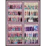 Благовещенская икона Февраль (02), икона месяцеслов (минея), 18х24 см Высота иконы 24 см фото