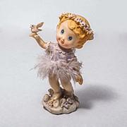 Статуэтка Ангелочек с птицей 14см фото