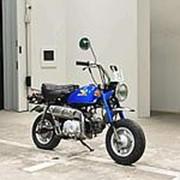 Мопед мокик Honda Monkey рама Z50J гв 1978 задний багажник пробег 1 т.км синий фото