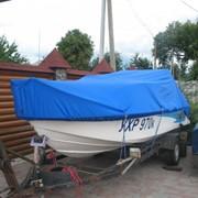 Тент стояночный на лодку фото