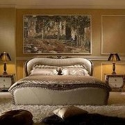 Итальянская кожанная кровать с тумбами, купить, Киев, Украина, цена