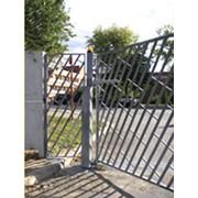 Ворота откатные консольные фото
