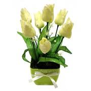 Тюльпан искусственный в горшке БФ20017 фото
