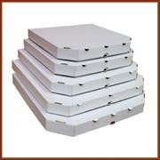 Коробка для пиццы 300х300х37 белая, изготовление, продажа фото