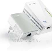 Комплект адаптеров для создания сети Ethernet на основе электросети TL-WPA4220KIT(500Mbps, Wifi), код 61392 фото