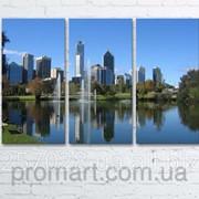 Модульна картина на полотні Австралія. Королівський парк. Річка Лебідь код КМ6090-106 фото