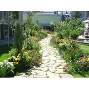 Садовые дорожки из натурального камня Создание дорожек площадок фото
