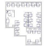Планировка дома Планировка офисного помещения в 2D/3D фото