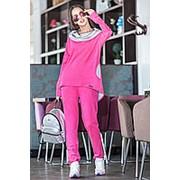 Модный спортивный костюм женский из замши (разные цвета) фото