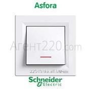 Выключатель 1кл. с подсветкой белый Asfora EPH1400121 фото