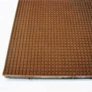 Пластина набоечная 23*22,5*0,5 жёсткая коричневая фото